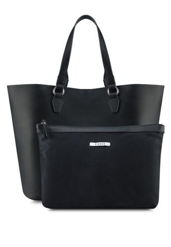 Pieces black Maribel Shopper Bag A82A9ACC890B2AGS_1