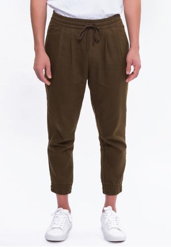 Alpha Style brown Aahil Jogger Pants AL461AA0FVBZSG_1