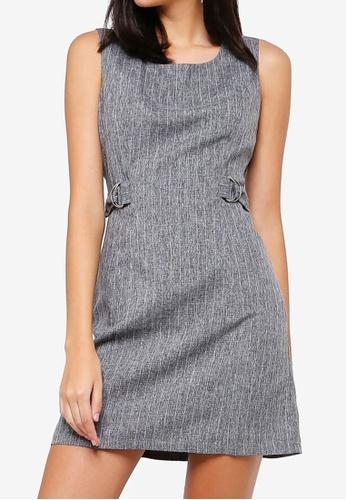ZALORA grey Buckle Detail Sheath Dress 07CE4AA8095BFAGS_1