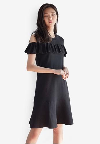 NAIN black Flare Knit Midi Dress 66212AA92E2915GS_1