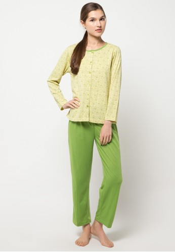PUPPY green Long Sleeve, Long Pants Print Baby Bear Ii PU643AA40LWDID_1
