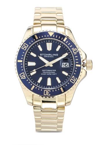Stuhrling Original gold Aquadiver 3950A Watch 4508AAC742C0EDGS_1