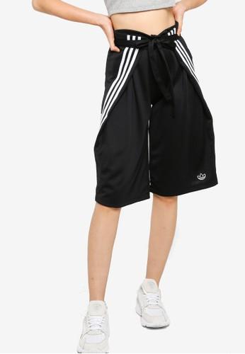 ADIDAS black wraparound shorts BB523AAA2D902DGS_1