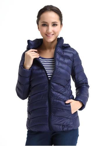 Bove by Spring Maternity blue Belle Hooded Down Jacket F520FAA3E4A7A4GS_1