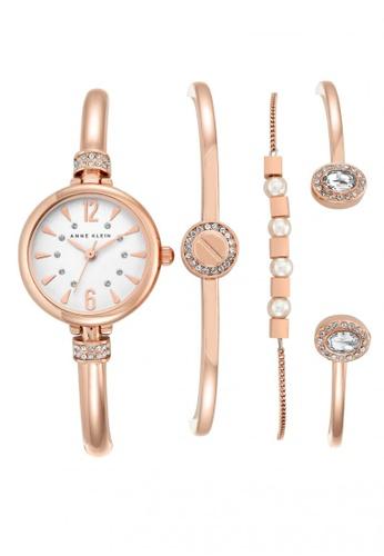 c5888792890 Anne Klein. Anne Klein Ladies Box Set - Swarovski Crystal-Accented Bangle  Watch + Three Bracelets ...