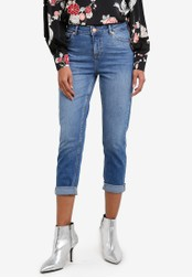 Dorothy Perkins blue Mid Wash Straight Jeans DO816AA0SB7BMY_1