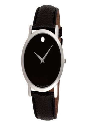 movado black and silver Movado Moderna Men's Silver-Plated Watch 6B195ACD7D9406GS_1