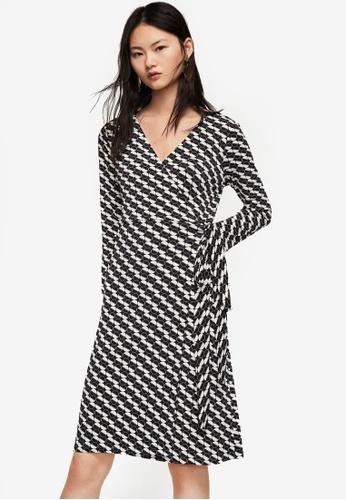 Mango black Wrap Polka-Dot Dress 0F4DDAA3DFDE31GS_1