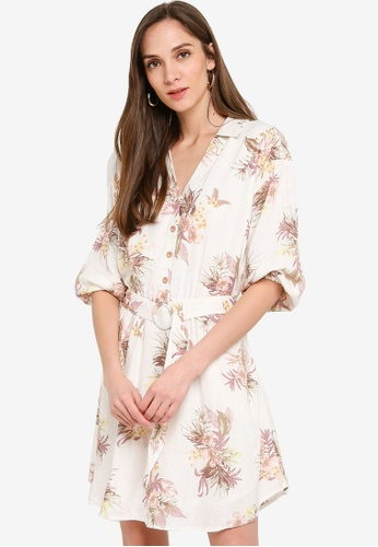Mink Pink multi Tropic Dreaming Shirt Dress 8DF86AAABB52D2GS_1