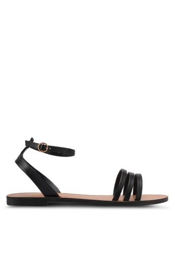ZALORA black Strappy Sandals 81F75SHA07567CGS_1