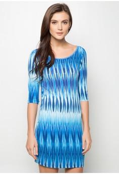 Holly Quarter Sleeves Printed Dress