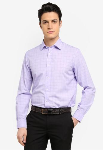 Brooks Brothers purple Red Fleece Nine To Nine Novelty Violetglen Shirt 050F0AA5B6DF51GS_1