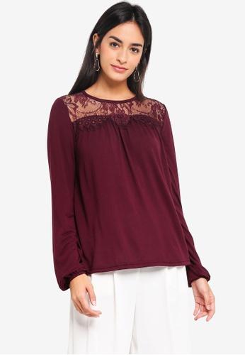 Vero Moda purple Viona Long Sleeve Top 2A236AA4F772F0GS_1