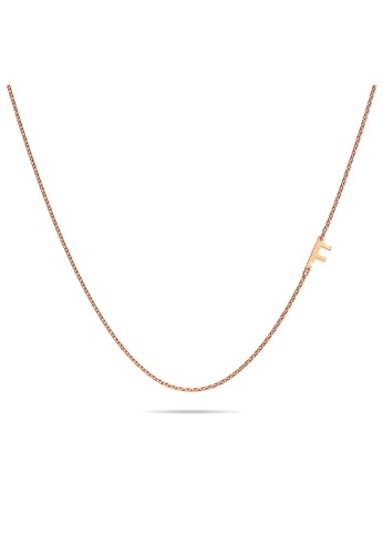 Bullion Gold gold BULLION GOLD Bold Alphabet Letter Initial Charm Necklace in Rose Gold Tone - F 70374AC3F5CA6FGS_1
