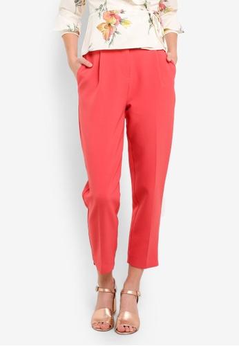 TOPSHOP pink Split Hem Trousers TO412AA0RMXMMY_1
