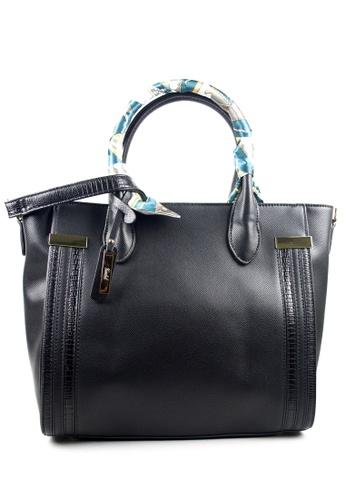 Kimbel International black Handbag with Sling 03FE4AC306C728GS_1