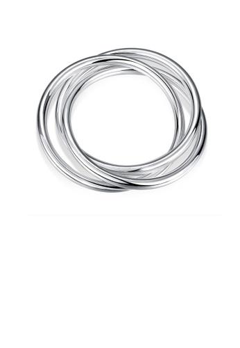 Glamorousky silver Fashion Geometric Three-layer Circle Bangle 21CC9ACE2565C6GS_1
