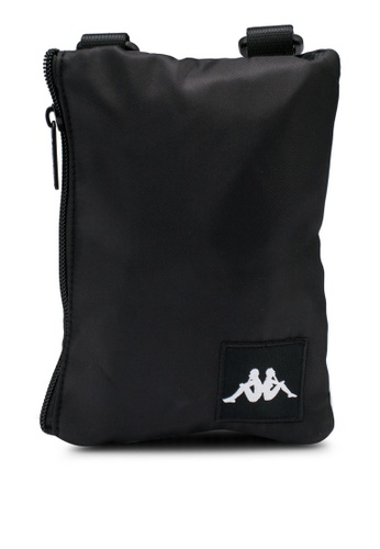 Kappa black Unisex Authentic Pass Shoulder Bag 20D15AC13030AAGS_1