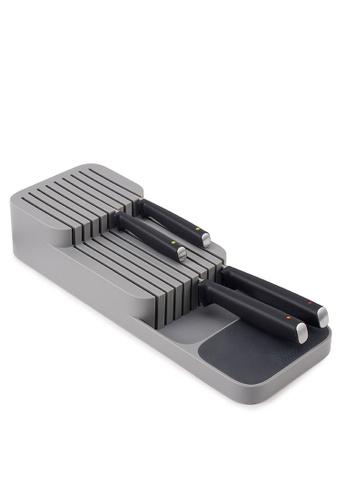 Joseph-Joseph grey DrawerStore Compact 2 Tier Knife Organizer, Grey A4CA2HL91C86E2GS_1