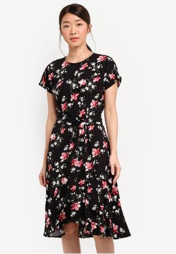 WAREHOUSE multi Constantine Floral Dress 6AE3BAA520C4ACGS_1