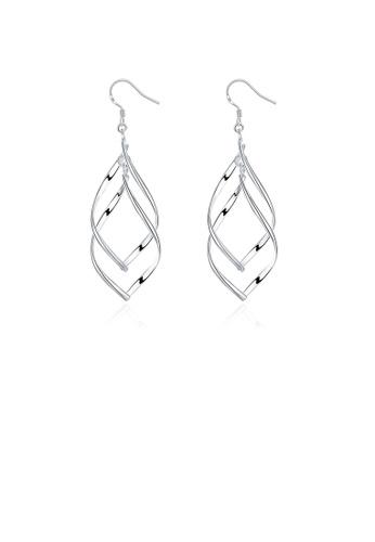 Glamorousky silver Fashion Banana Leaf Earrings 90878AC9B747E9GS_1
