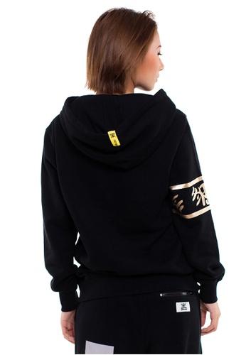 Reoparudo black RPD Logo Print Hoodie Gold Edition (Black) F23AAAAB7AA538GS_1