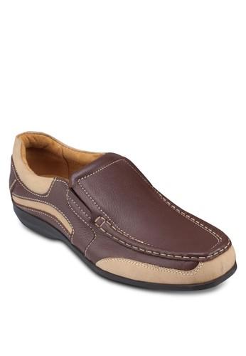 esprit 台中雙色皮革休閒鞋, 鞋, 鞋