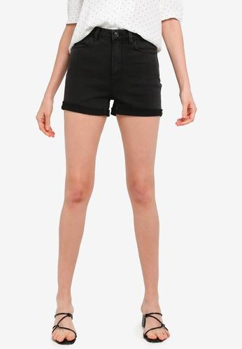 PIMKIE black High Waist Denim Shorts 587C3AA2419B39GS_1