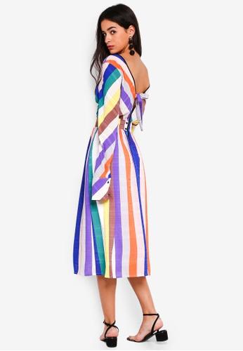 GHOSPELL multi Colour By Numbers Midi Dress 87CF0AAD31AB37GS_1
