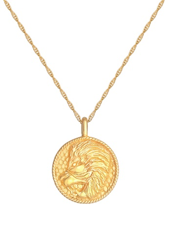 ELLI GERMANY gold Zodiac Sign Leo Coin Necklace EF674ACF273869GS_1