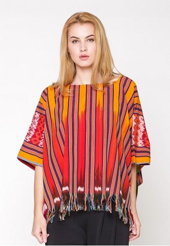 Batik Etniq Craft Blouse Kotak Tenun Ikat Rumbai