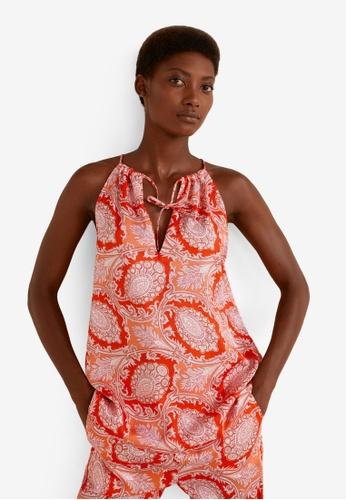 Mango orange Paisley Print Top FC048AABF5CDF6GS_1