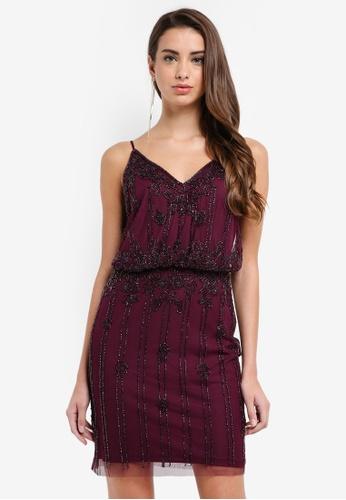 Lace & Beads red Keeva Dress CA1E6AA16428BBGS_1