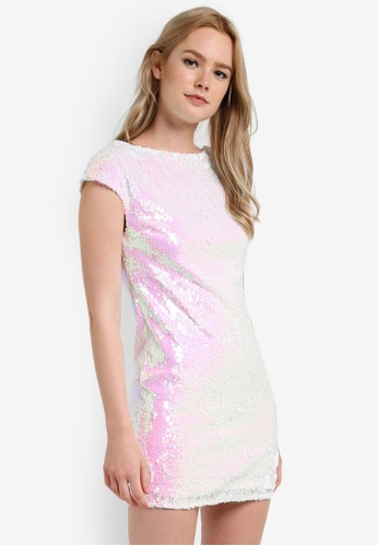 Miss Selfridge white Sequin Tea Dress MI665AA92DEDMY_1