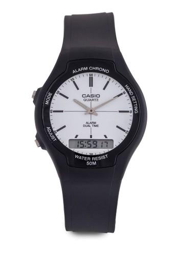 Casiesprit hko AW-90H-7EVDF 雙顯手錶, 錶類, 其它錶帶