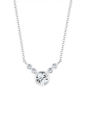 Elli Germany silver Perhiasan Wanita Perak Asli - Silver Kalung Minimalis Crystal EL948AC42FYZID_1