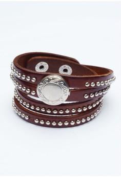 Pre-styled Genuine Leather Wrap Around Bracelet