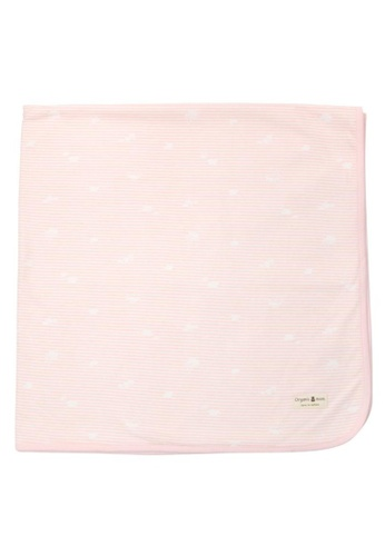 Organic mom pink Candy Hearts Swaddling Blanket (SPRING) 224D8KCCDF676AGS_1