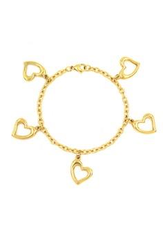Plated Heart Bracelet