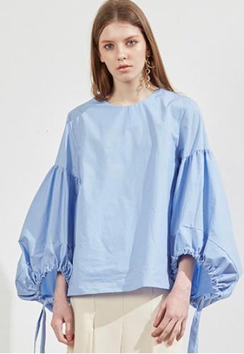 Workwear blue Wide String Top WO056AA32FJRSG_1