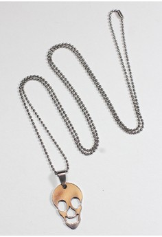 Yorick Steel Skull Necklace