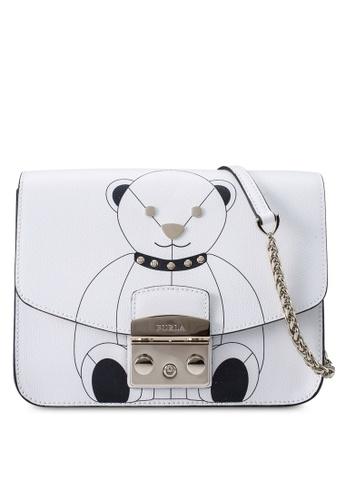Furla white Metropolis Mini Crossbody Bag 47F3AAC9A31445GS_1