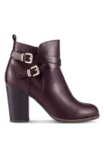Dorothy Perkins red Burgundy Alfa Buckle Boots DO816SH0RP57MY_1