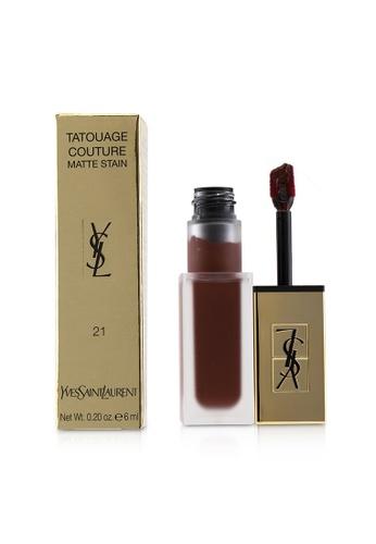 Yves Saint Laurent YVES SAINT LAURENT - Tatouage Couture Matte Stain - # 21 Burgundy Instinct 6ml/0.2oz FC94ABE8D154A2GS_1