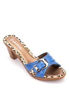 Daisy Heeled Slides