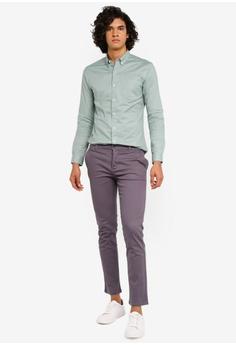 4fea7fcd289f3 Topman Sage Stretch Skinny Oxford Shirt RM 139.00. Sizes XS S L XL