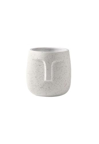 DILAS HOME white Face Plant Pot (White) - Big A4E87HL29CA251GS_1