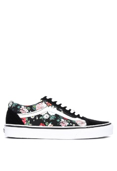 c3c0ea3c50247 Vans black and multi Garden Floral Old Skool Sneakers 4C493SH3CCE5E1GS_1