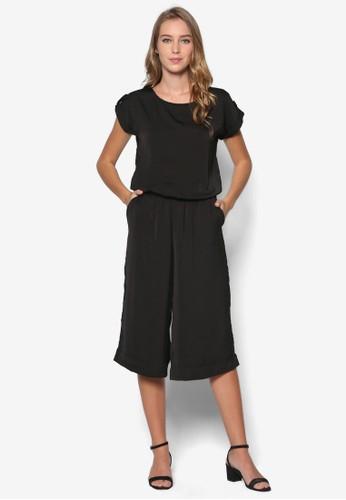 素色腰esprit門市飾連身褲, 服飾, 連身褲