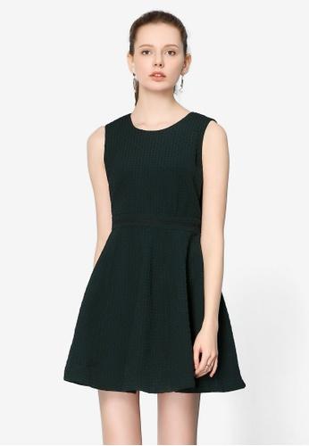 Hopeshow green Sleeveless Mini Dress BA82DAA1EDC611GS_1
